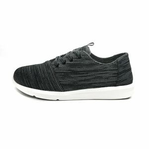 NEW Del Ray Knit Black Space Dyed Sneakers